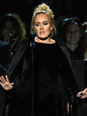 Adele Drops F-Bomb During George Michael Tribute Then Apologizes Profusely for Rest of Grammy Night (Video)