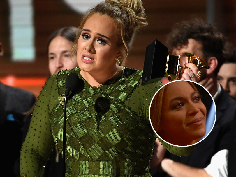 Adele Brings Beyonce to Tears With Her Praise During Grammy Acceptance Speech (Video)