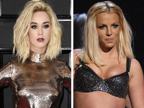 Katy Perry Under Fire for Throwing Shade at Britney Spears: 'Haven't Shaved My Head Yet'