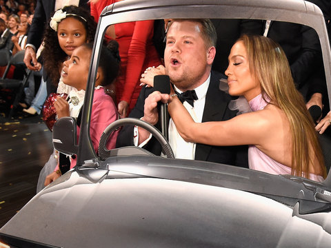 James Corden, Neil Diamond Pull Off Epic 'Carpool Karaoke' at Grammys - But Blue Ivy…