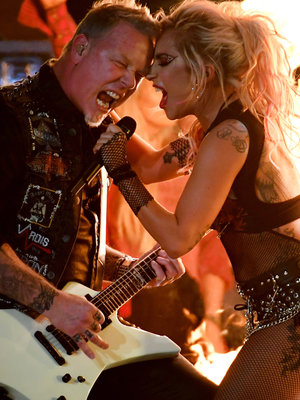 Lady Gaga, Metallica Grammy Duet Plagued by Major Technical Difficulty (Video)