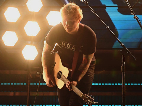 Ed Sheeran's Grammy Performance Crashed a Website