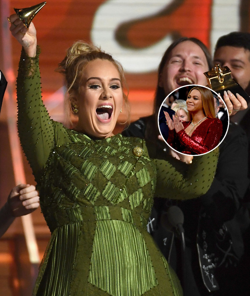 Adele Snaps Grammy In Half That She Wanted Beyonce to Win