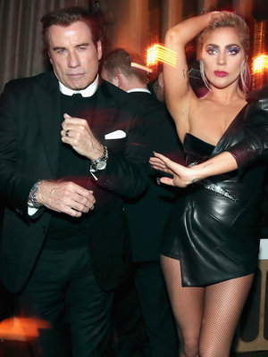 Travolta and Lady Gaga Cut Loose and More Must-See Grammy After-Party Photos