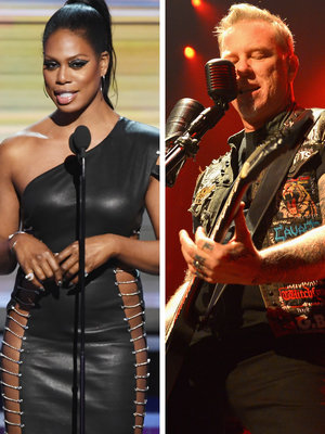 Laverne Cox Is 'So Sorry' for Forgetting to Introduce Metallica With Lady Gaga at Grammys (Video)