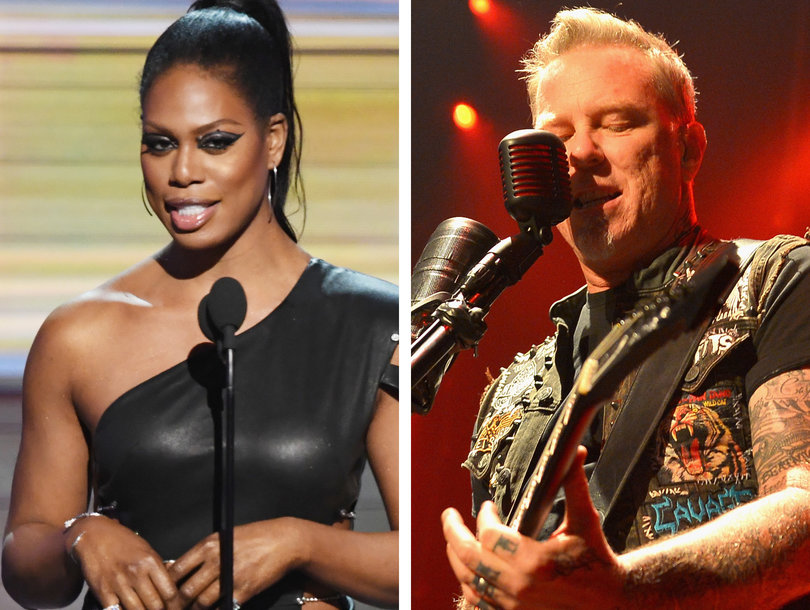 Laverne Cox Is 'So Sorry' for Not Introducing Metallica With Lady Gaga at Grammys (Video)