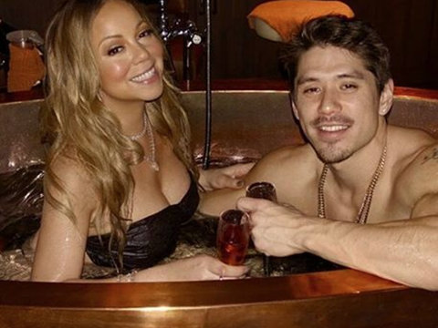 Mariah Carey Spent Valentine's Day In a Hot Tub with Bryan Tanaka (Photo)