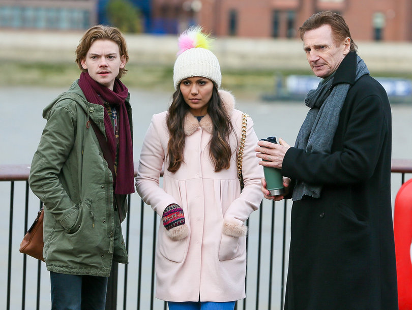 'Love Actually' Reunion First Look: Liam Neeson Seen with Movie Son Sam, Joanna on Set (Photo)