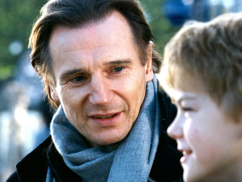 'Love Actually' Reunion First Look: Liam Neeson with Movie Son Sam, Joanna on Set (Photo)