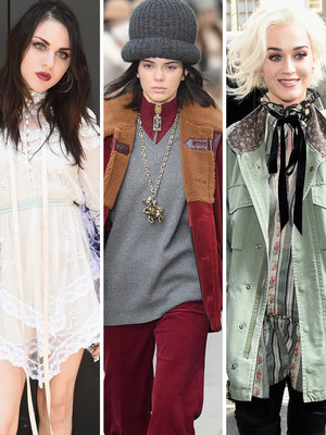 Frances Bean, Kendall Jenner and Katy Perry Attend Marc Jacobs Fashion Show at NYFW (Photos)
