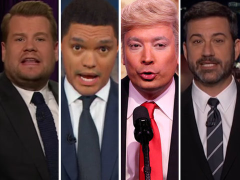 Every Late-Night Comedian Hounds 'Hurricane Trump' for 77-Minute Cage Match With the…