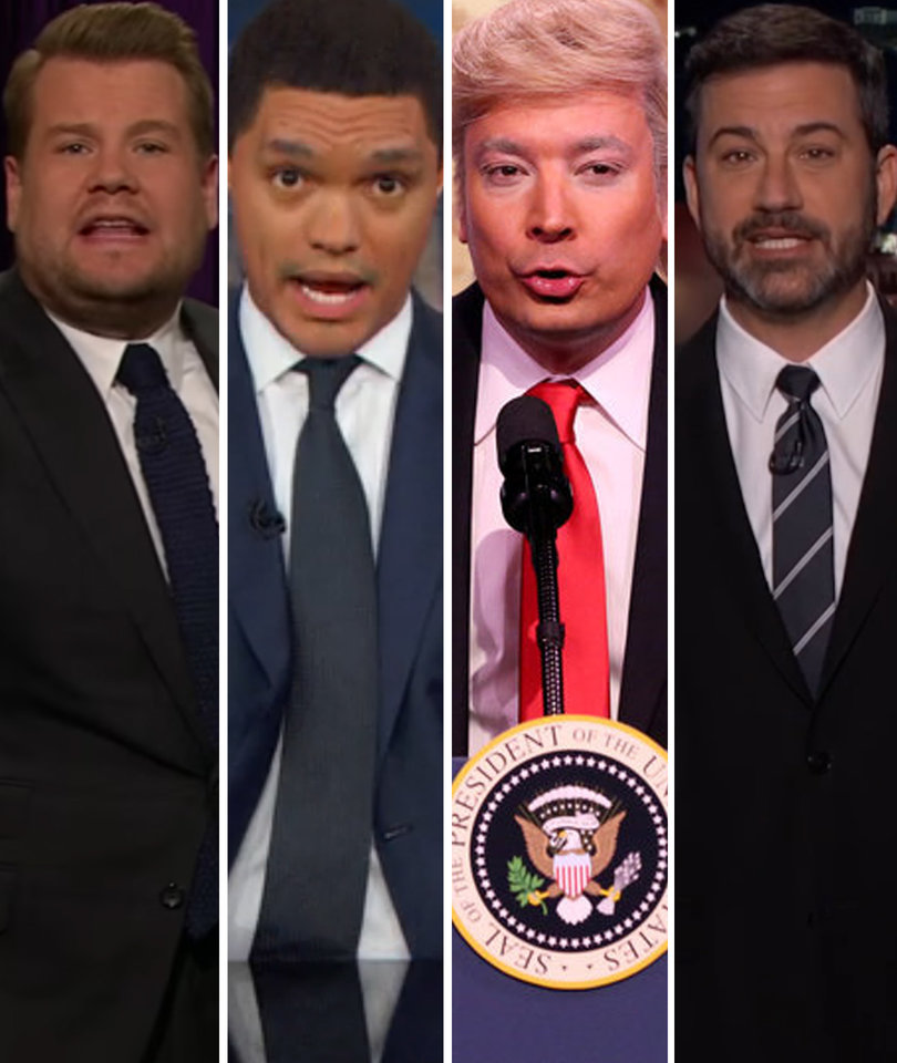 Every Late-Night Comedian Hounds 'Hurricane Trump' for 77-Minute Cage Match…