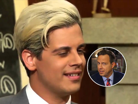 CNN's Jake Tapper Blasts Milo Yiannopoulos for 'Justifying' Pedophilia (Video)
