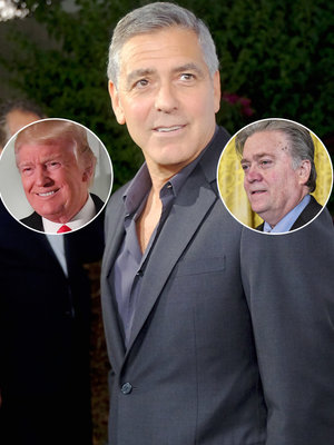 George Clooney Rips 'Failed Screenwriter' Steve Bannon, Donald Trump as Hollywood Elitists