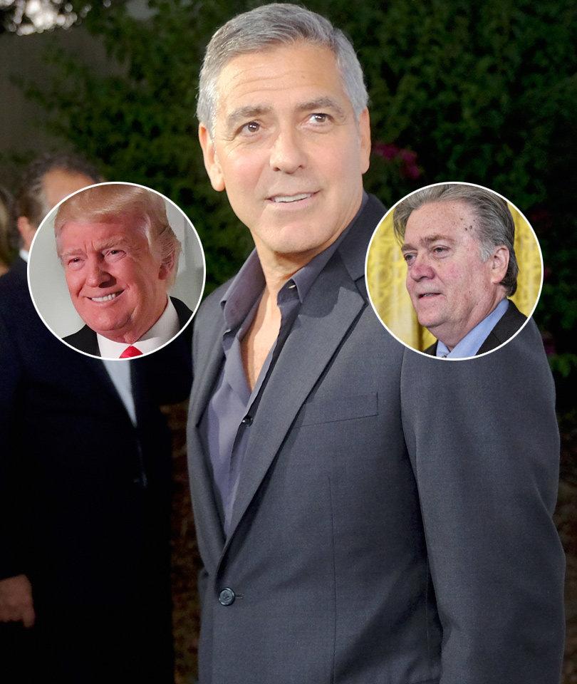 George Clooney Rips 'Failed Screenwriter' Steve Bannon, Donald Trump as…