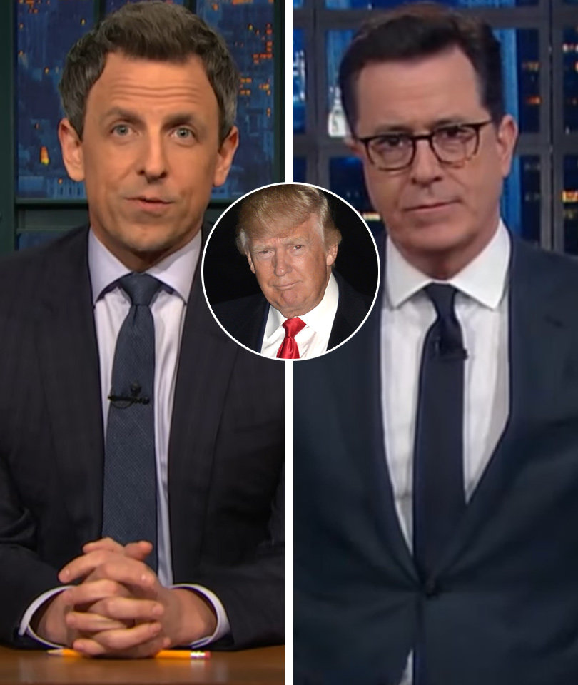 Stephen Colbert, Seth Meyers Ridicule Trump for Citing Fake Sweden News (Video)