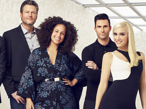 TLC's 'Waterfall' Gets 'Voice' Makeover! Watch Gwen Stefani, Alicia Keys, Adam Levine and Blake Shelton's Video