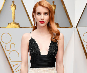 Emma Roberts Goes Red and Green on Oscars Red Carpet (Video)