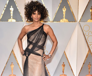 Halle Berry's Oscar Hair Is Being Brutalized on Twitter - But the Versace Dress Is Winning (Photos)