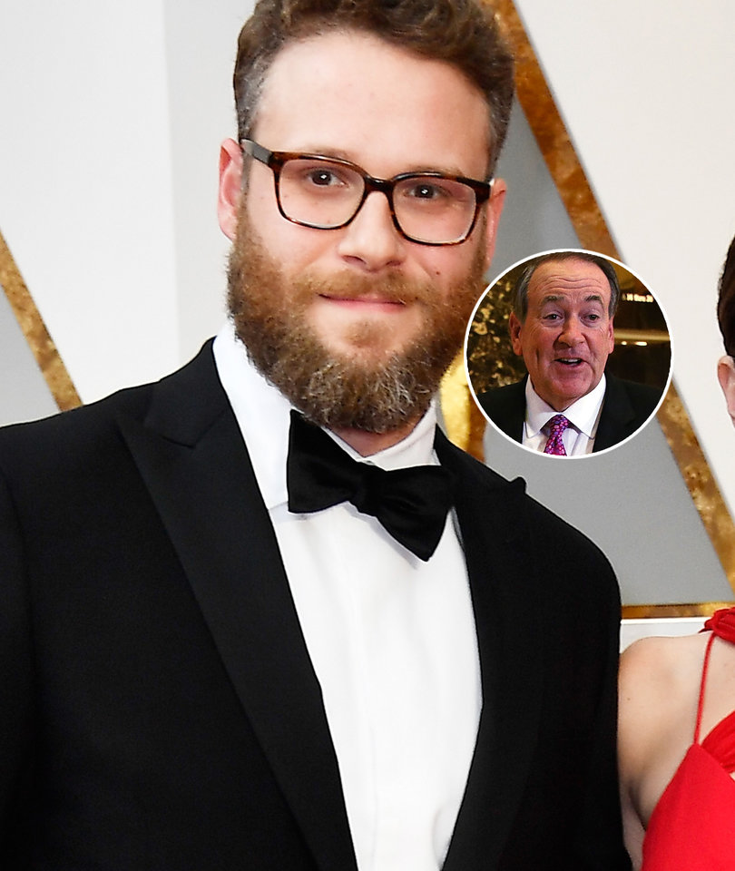Seth Rogen Trolls Mike Huckabee for Crappy Oscars 'Colonoscopy' Joke