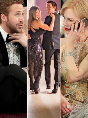 Oscars 2017: Gosling's Hot Sister, Jen & Justin's PDA and More Moments You Didn't See…