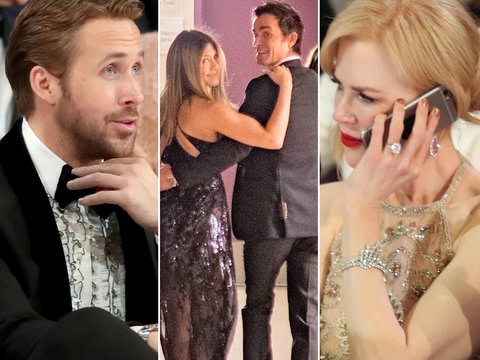 Oscars 2017: Gosling's Sister, Jen & Justin PDA and More Moments You Didn't See on TV (Photos)