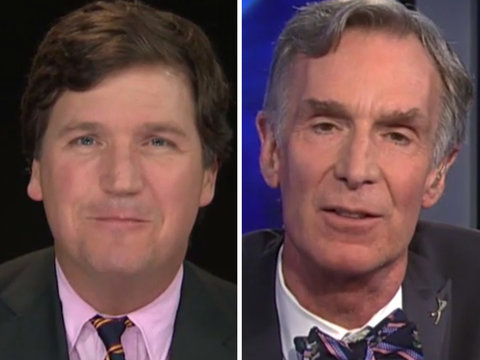 Tucker Carlson Tries Really Hard to Pretend He Knows More About Science Than Bill Nye…