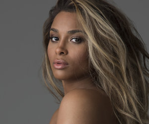 A Super-Pregnant Ciara Poses Topless