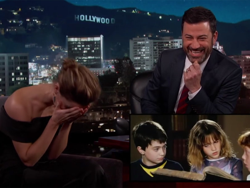 Jimmy Kimmel Tortures Emma Watson With Embarrassing 'Harry Potter' Outtakes (Video)