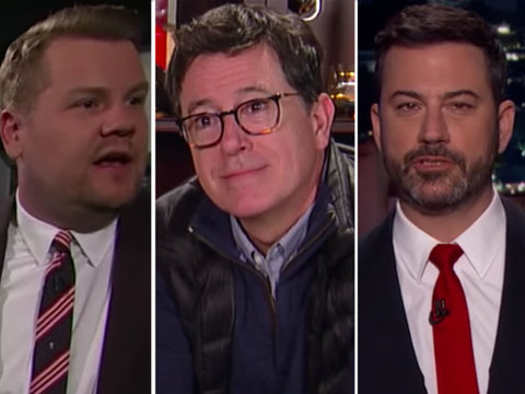 Kimmel, Corden and Colbert All Imagine 'A Day Without Women' to Varying Degrees of…