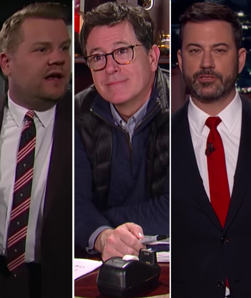 Kimmel, Corden and Colbert All Imagine 'A Day Without Women' to Varying Degrees…