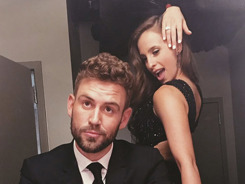 'Bachelor' Couple Nick Viall, Vanessa Grimaldi Tell Jimmy Kimmel the First Time They Had…