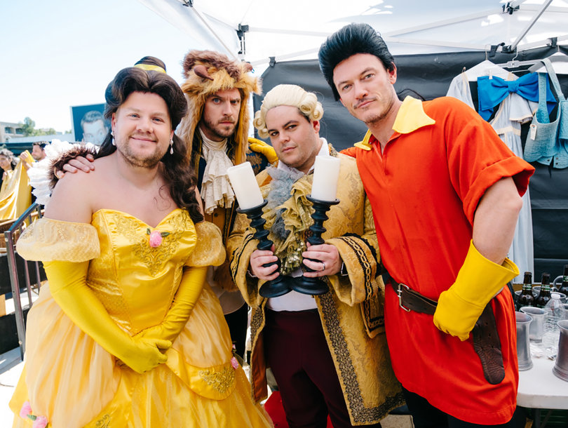 'Beauty and the Beast' Cast, James Corden Perform Disney Musical in LA Traffic…