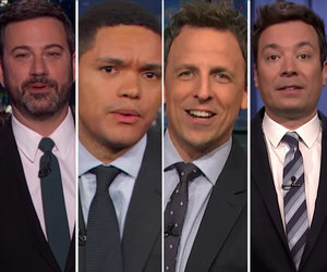 Late-Night Comedians Trash Trump's Budget Cuts, Travel Ban and Alien Hair…