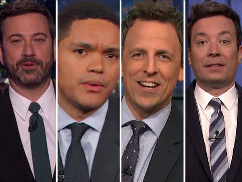 Late-Night Comedians Trash Trump's Budget Cuts, Travel Ban and Alien Hair (Video)