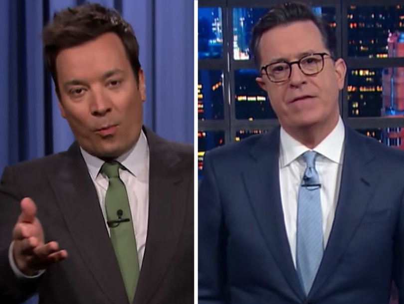 Stephen Colbert and Jimmy Fallon Mock Trump's St. Patty's Gaffe (Video)