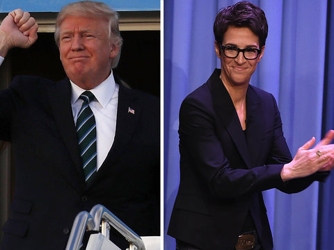 Trump Takes on Rachel Maddow's Tax Report, 'Leakers' (Video)