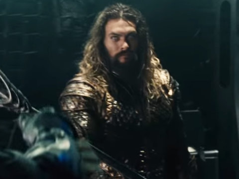 Aquaman Is a Trident-Wielding Badass in New 'Justice League' Footage (Video)