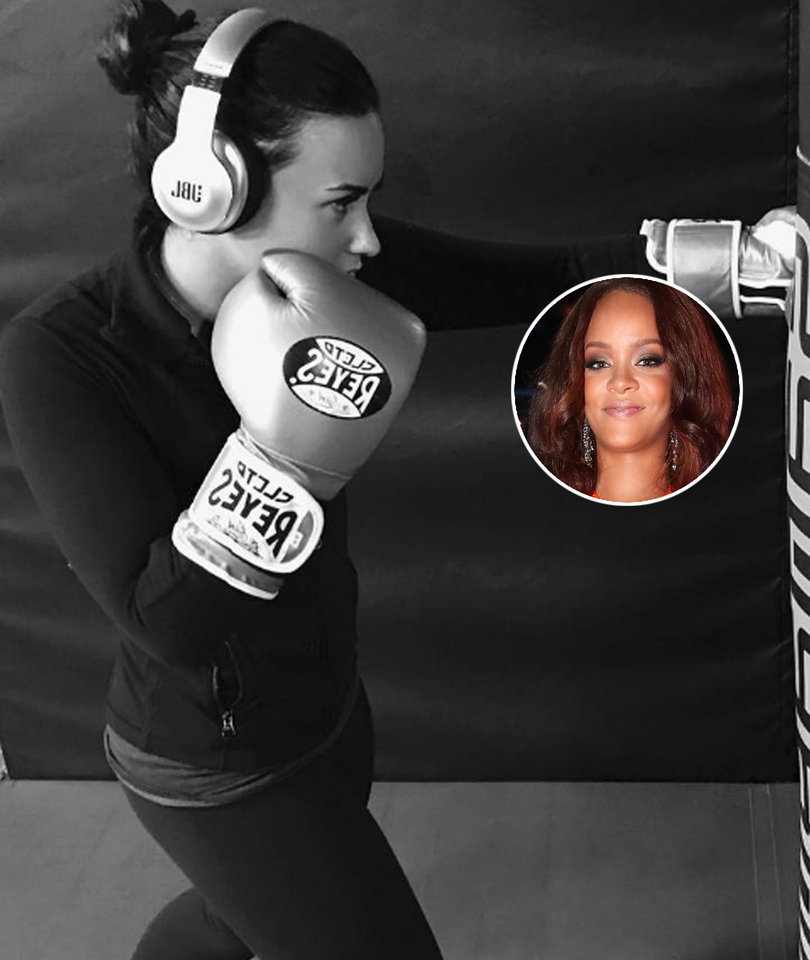 Demi Lovato Twerks to Rihanna in the Middle of a Workout (Video)