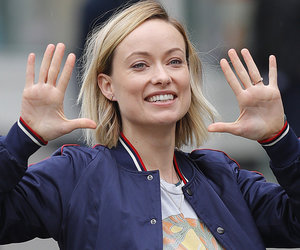 Olivia Wilde Rocks Huge Baby Bump While Filming In Today's Hot Photos