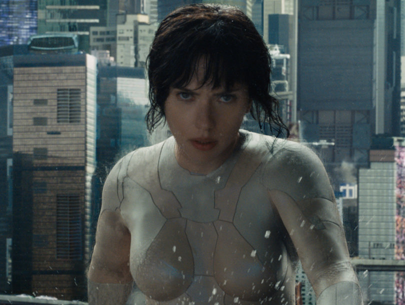 Scarlett Johansson Defends 'Ghost in the Shell' From Whitewashing Backlash (Video)