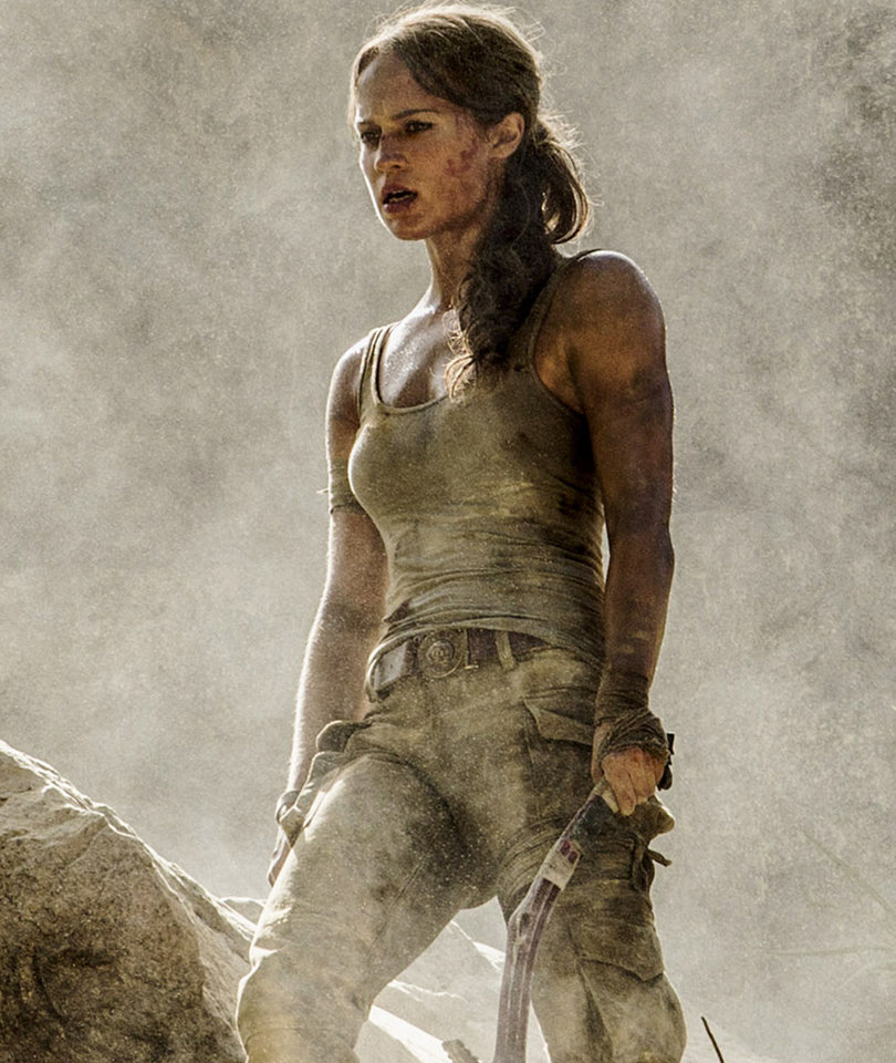 'Tomb Raider' Reboot: Alicia Vikander Gets Down and Dirty as Lara Croft (Photos)
