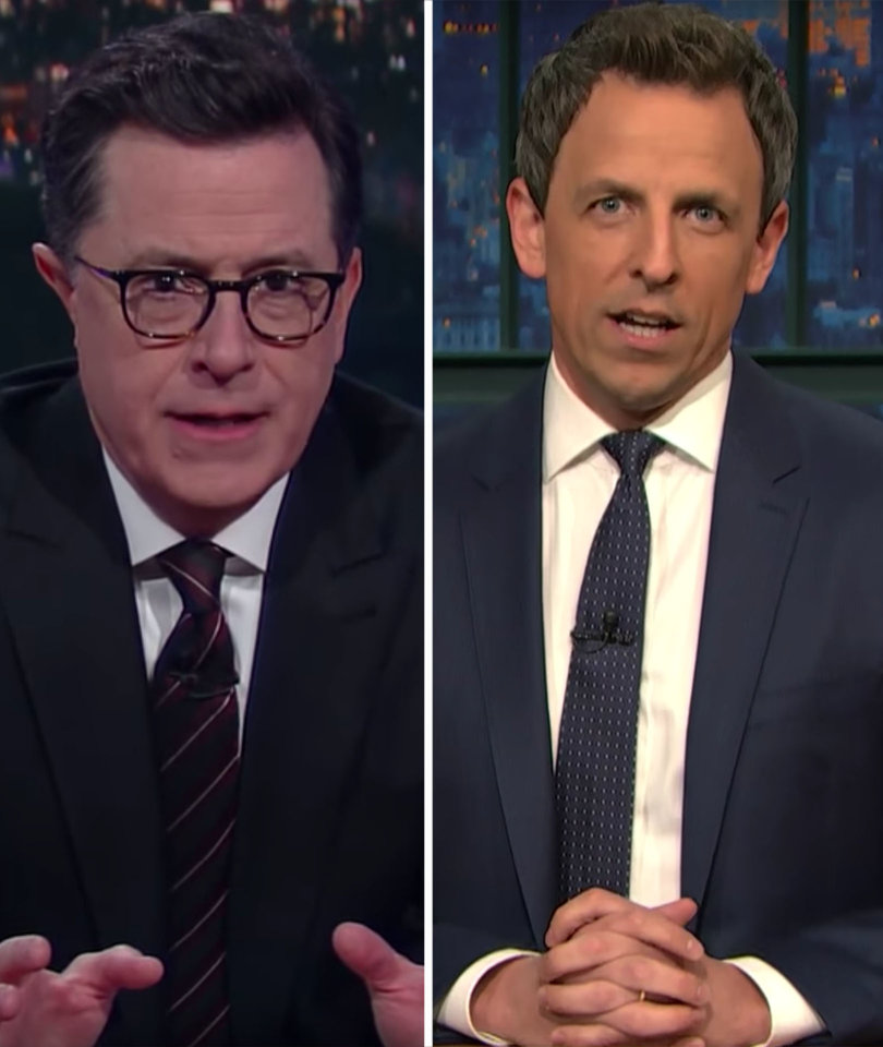 Stephen Colbert, Seth Meyers Dump on Trump Over 'Bring Your Daughter to Govern…