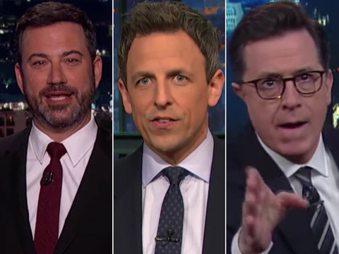 Late-Night TV Takes on White House Nepotism, Melania Trump's Portrait and President…