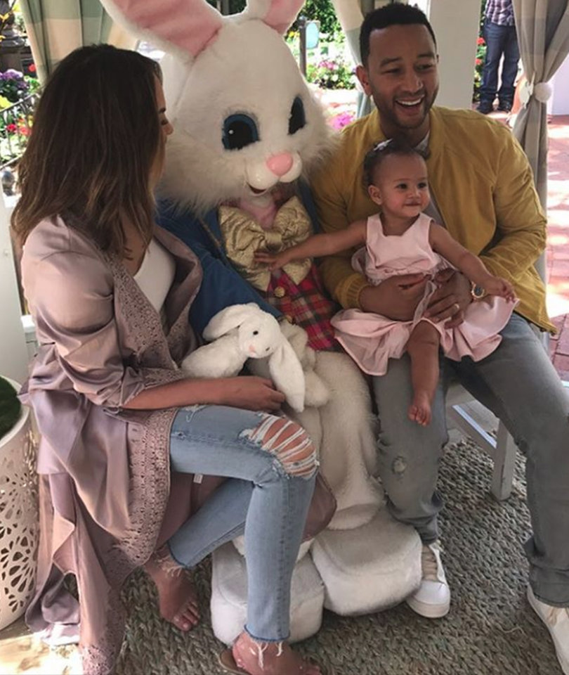 Baby Luna Meets the Easter Bunny and It's All Just Too Precious