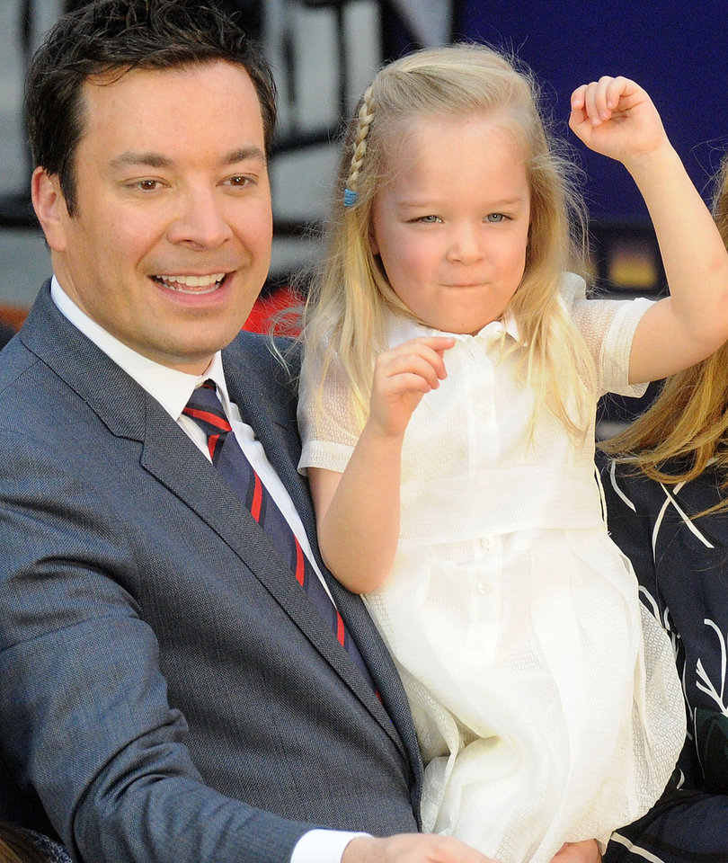 Jimmy Fallon's Daughters Steal the Show at His Universal Studios Ride Opening