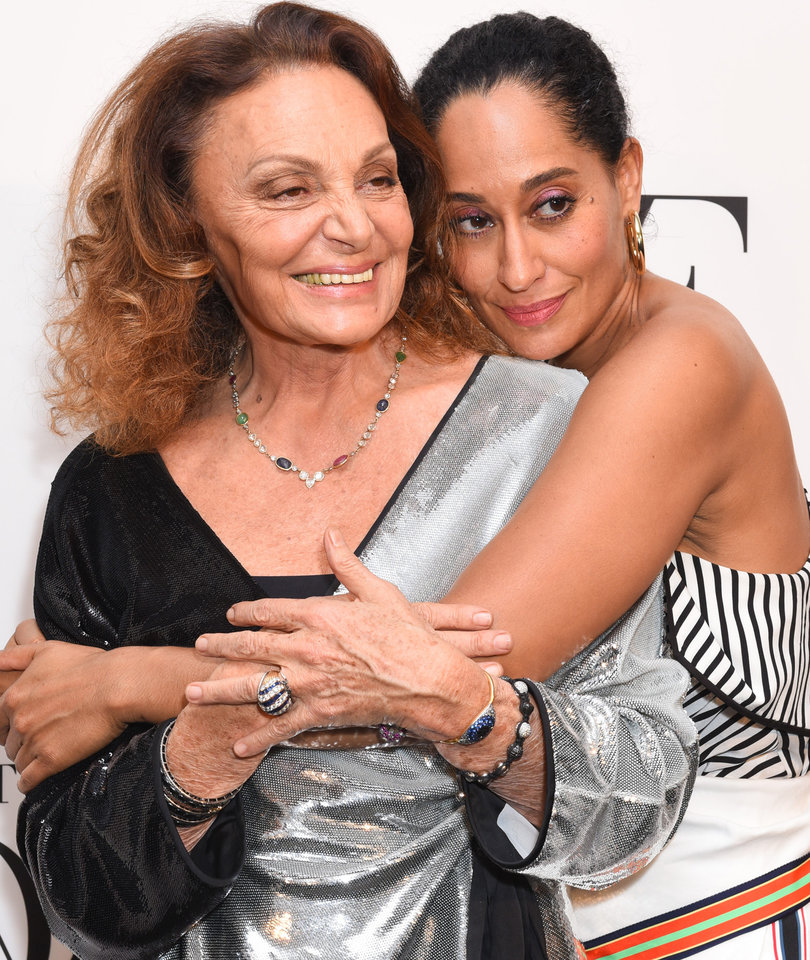 Tracee Ellis Ross and Diane von Furstenberg at DVF Awards in Today's Hot Photos