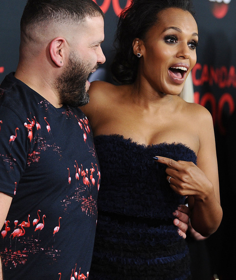 Kerry Washington and 'Scandal' Cast Celebrate Show's 100th Episode