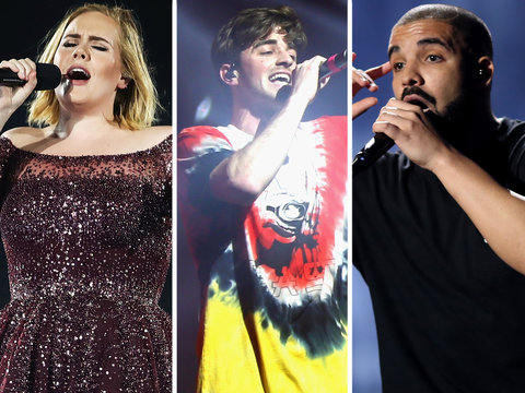 Billboard Music Award Nominations: Chainsmokers and Drake Lead (Complete List)
