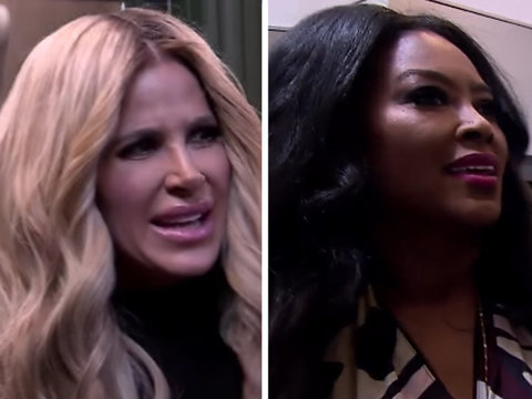 Kim Zolciak-Biermann Faces Off With Kenya Moore in Fiery 'Real Housewives of Atlanta'…